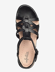 Clarks - Loomis Katey - flate sandaler - black leather - 3