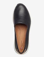 Clarks - Un Rio Step - slip-on sneakers - black leather - 3