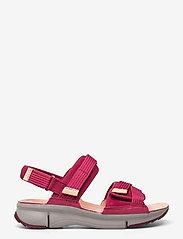 Clarks - Tri Walk - platta sandaler - berry combi - 1