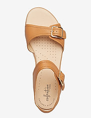 Clarks - Bay Primrose - platta sandaler - light tan lea - 3
