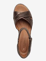 Clarks - Un Plaza Cross - korolliset sandaalit - pebble metalic - 3