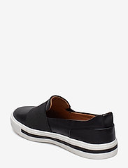Clarks - Un Maui Step - slip-on sneakers - black leather - 2