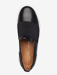 Clarks - Un Maui Step - slip-on sneakers - black leather - 3