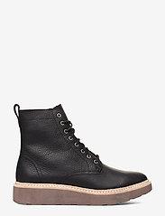 Clarks - Trace Pine - platta ankelboots - black leather - 1