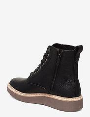 Clarks - Trace Pine - platta ankelboots - black leather - 2