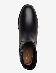 Clarks - Pure Rosa - flade ankelstøvler - black leather - 3