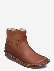 Clarks - Funny Mid - flat ankle boots - dark tan combi - 0
