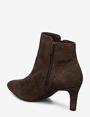 Clarks - Calla Blossom - ankelstøvler med hæl - dark brown suede - 2