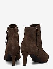 Clarks - Calla Blossom - ankelstøvler med hæl - dark brown suede - 4