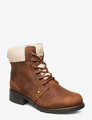 Clarks - Orinoco Dusk - flat ankle boots - tan leather - 0