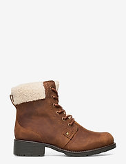 Clarks - Orinoco Dusk - flat ankle boots - tan leather - 1