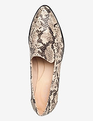 Clarks - Bizzy Dawn - loafers - taupe snake - 3