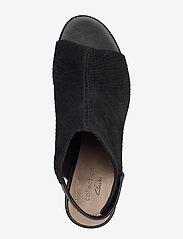 Clarks - Deva Bell - høyhælte sandaler - black nubuck - 3