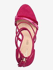 Clarks - Curtain Strap - högklackade sandaler - fuchsia - 3