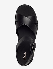 Clarks - Orinoco Strap - platta sandaler - black leather - 3