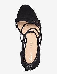 Clarks - Curtain Strap - högklackade sandaler - black sde - 3