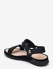 Clarks - Tri Sporty - platta sandaler - black leather - 2