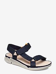Clarks - Tri Sporty - platta sandaler - navy textile - 0