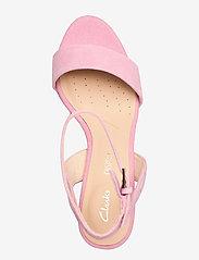 Clarks - Amali Jewel - högklackade sandaler - pink suede - 3