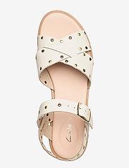 Clarks - Willow Gild - platta sandaler - white - 3
