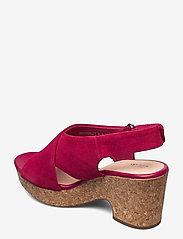 Clarks - Maritsa Lara - högklackade sandaler - fuchsia suede - 2