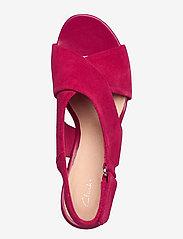 Clarks - Maritsa Lara - högklackade sandaler - fuchsia suede - 3
