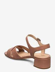 Clarks - Sheer35 Strap - högklackade sandaler - praline leather - 2