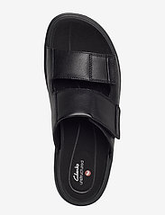 Clarks - UnWilmore Part - pool sliders - black leather - 3