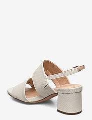 Clarks - Sheer55 Sling - høyhælte sandaler - white snake - 2