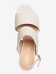 Clarks - Sheer55 Sling - høyhælte sandaler - white snake - 3