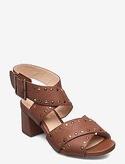 Clarks - Sheer55 Buckle - högklackade sandaler - tan leather - 0