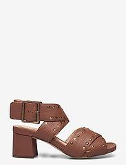 Clarks - Sheer55 Buckle - högklackade sandaler - tan leather - 1