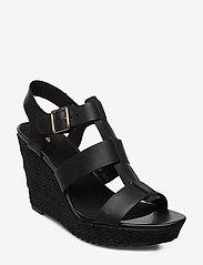 Clarks - Maritsa95 Glad - compensées - black leather - 0