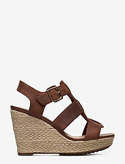 Clarks - Maritsa95 Glad - espadrilles met sleehak - tan leather - 1