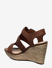 Clarks - Maritsa95 Glad - espadrilles met sleehak - tan leather - 2