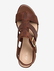 Clarks - Maritsa95 Glad - espadrilles met sleehak - tan leather - 3