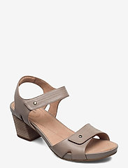 Clarks - Un Palma Vibe - högklackade sandaler - taupe leather - 0