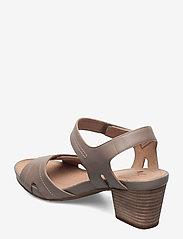 Clarks - Un Palma Vibe - högklackade sandaler - taupe leather - 2