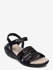 Clarks - Alexis Shine - platta sandaler - black - 0
