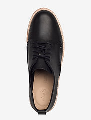 Clarks - Trace Walk - snøresko - black leather - 3