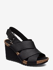 Clarks - Flex Sand - sandales à talons - black leather - 0
