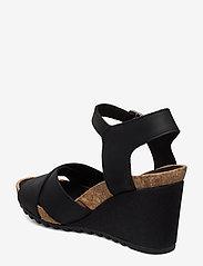 Clarks - Flex Sun - högklackade sandaler - black leather - 2