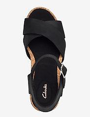 Clarks - Flex Sun - högklackade sandaler - black leather - 3