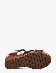 Clarks - Flex Sun - högklackade sandaler - tan leather - 4