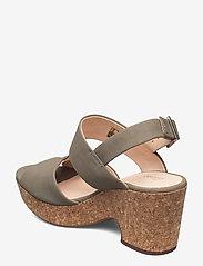 Clarks - Maritsa Glad - högklackade sandaler - sage suede - 2