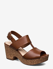 Clarks - Maritsa Glad - högklackade sandaler - tan leather - 0