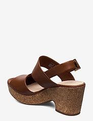 Clarks - Maritsa Glad - högklackade sandaler - tan leather - 2