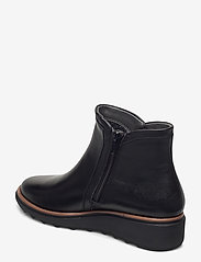 Clarks - Sharon Heights - platte enkellaarsjes - black leather - 2