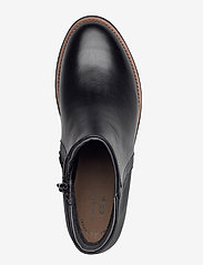 Clarks - Sharon Heights - platte enkellaarsjes - black leather - 3