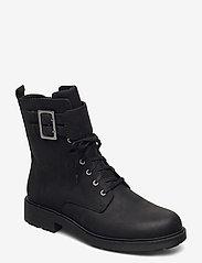 Clarks - Orinoco2 Lace - platta ankelboots - black wlined lea - 0